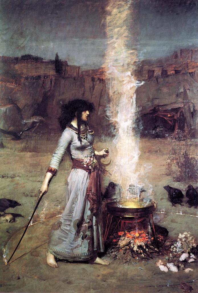 The Magic Circle, John William Waterhouse, 1886