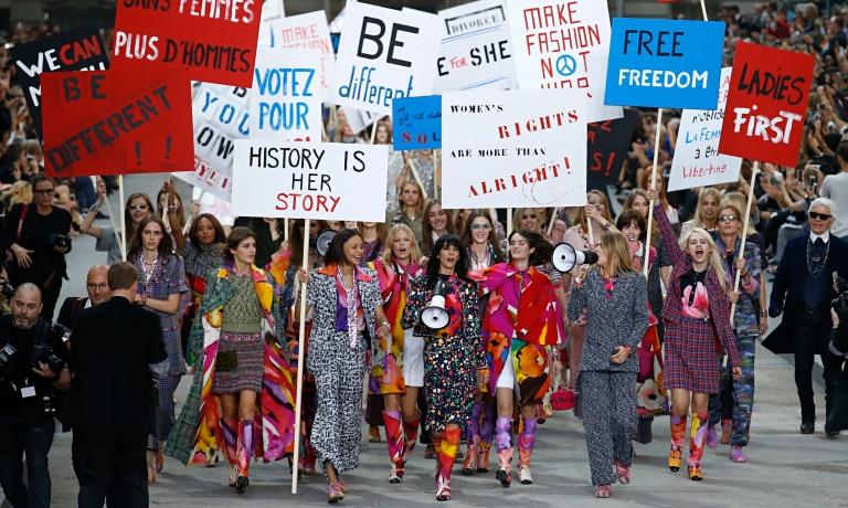 Karl Lagerfeld's Chanel catwalk show.